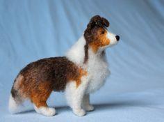 Felted Sheltie - Custom Felt Portrait to match your Shetland Sheep Dog