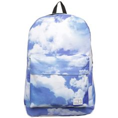 Spiral Bags CLOUD Rucksack featuring polyvore fashion bags backpacks blue knapsack bags pattern bag laptop rucksack polyester backpack backpacks bags