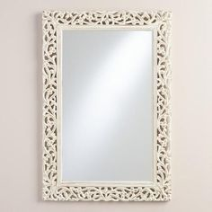 One of my favorite discoveries at WorldMarket.com: Segovia Whitewashed Mirror