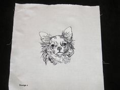 "Chihuahua Smooth & Longhaired 12"" x 12""  Embroidered white Quilt Blocks - 5 Different  Designs to choose from by OneDogFashions on Etsy"