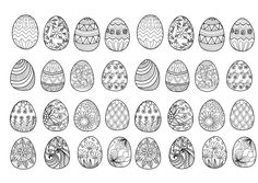 32 Easter eggs to print and color : various styles & patterns, From the…