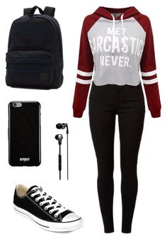 """""""Untitled #5"""" by amela-ella-hodzic ❤ liked on Polyvore featuring Dorothy Perkins, WithChic, Converse, Vans, Skullcandy and Givenchy"""