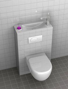Sanitario de baño / Mueble de baño / inodoro de baño: #Inodoro con lavamanos #decoracion #baño
