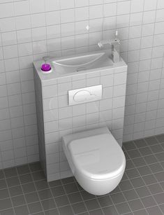 Toilets powder rooms and bathroom on pinterest - Inodoro con lavabo ...
