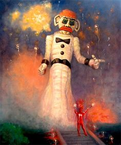 Zozobra ... Old Man Blue. Every year a festival is held in Santa Fe where this giant puppet, stuffed with divorce papers, bad report cards, speeding tickets, negative bank statements etc. is set on fire during the festival of Zozobra, giving a clean slate for the year ... How cool!!!