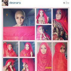 Wide shawl tutorial: create khimar