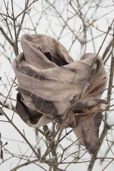 sunflower seed dye on cotton jersey by lefiligree, via Flickr