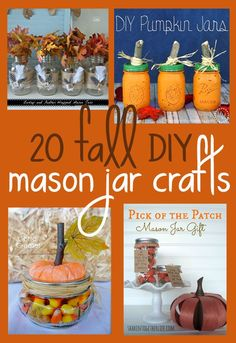Great collection of fall DIY mason jar projects on bonbonbreak.com Halloween (Boo!),#halloween,#BooItForward