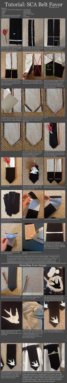 Tutorial: SCA Belt Favor by ~healormor (includes a pouch, brilliant!)