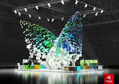 """Exhibition stand for """"Sberbank"""" BUTTERFLY on Behance"""
