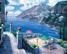 The Amalfi Coast Mural - John Zaccheo| Murals Your Way