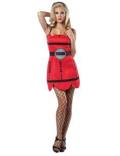 Sexy Dynamite Kleid TNT Damenkostüm rot-schwarz aus unserer Kategorie Ausgefallene Kostüme. Dieses Outfit ist heißer als Dynamit und macht jede Dame zu einer echten Bombe! Egal ob zu Fasching oder für die nächste Kostümparty, in dieser Dynamit-Vekleidung sprengen Sie jedes Event!