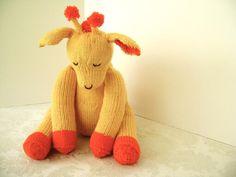 Cute knitted giraffe (in time out corner).  :(
