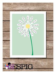 Love me, Love me not Flower Poster Print. $15.00, via Etsy.