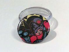 "Comic Book 1.5"" Button// Orion, $1.00"
