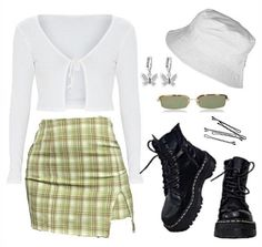 Swag Outfits For Girls, Kpop Outfits, Teen Fashion Outfits, Retro Outfits, Girl Outfits, Cute Skirt Outfits, Cute Comfy Outfits, Stylish Outfits, Cute Sweatpants Outfit
