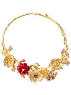 Shop Alexander McQueen cherry blossom necklace in Dell'oglio from the world's best independent boutiques at farfetch.com. Over 1000 designers from 300 boutiques in one website.