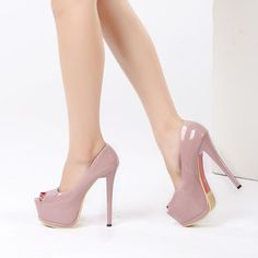 5cd6ae4c7cce 2018 women fashion Heel Concise Shallow Mouth shoes Peep Toe Thin High  Heels shoes pumps Wedding Party Super 14cm shoes XA-07