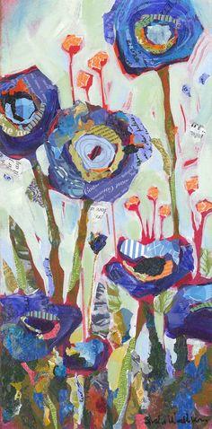 Blue Poppies Original Painting: