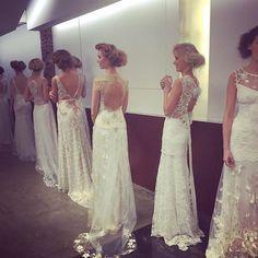 Claire Pettibone Fall 2016 #TheGildedAge Collection   Photo: Brendafabulous (Show Hairstylist) Claire Pettibone, Designer Wedding Dresses, Fall 2016, Flower Girl Dresses, Romantic, Collection, Instagram, Fashion, Moda