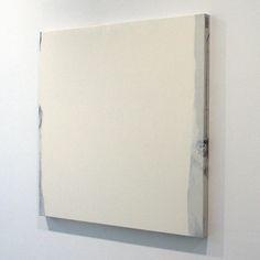 Ger van Elk - Conclusions II - Vejer de la Frontera 'Yellow' - 123x126x6cm Acrylverf op foto op canvas