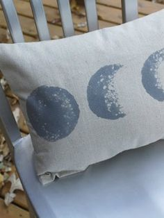 DIY Room Decor: How To Make a Moon Phase Pillow Apartment Therapy Reader Project Tutorial | Apartment Therapy