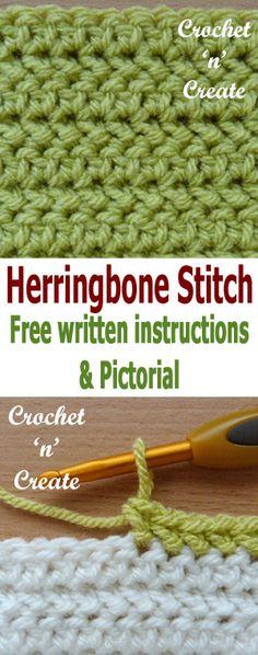 herringbone half double crochet stitch