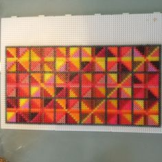 Grafik Design No 2 - Colorful hama perler art by ABYS Art BY beadS