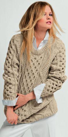 77e884c2e5204 Irish sweater knitting PATTERN