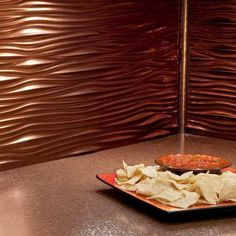 Waves Oil Rubbed Bronze Decorative Wall Tile