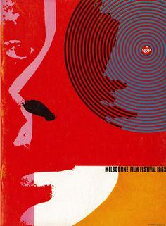 Frank Eidlitz, poster design for Melbourne Film Festival, 1965. Australia.