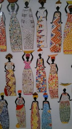 This Site dose not work but what a great Black History Month Craft for teens or older school age. African Art Projects, African Crafts, Cool Art Projects, Mosaic Projects, Art For Kids, Crafts For Kids, Arts And Crafts, Afrique Art, African Paintings