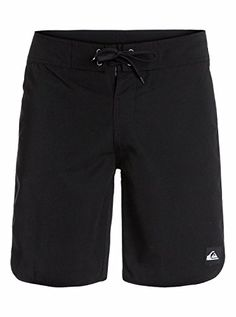 Quiksilver Mens Frenzied Traceable Recycled Supersuede NonStretch Boardshort Black 34 -- Click the swimwear to find out more