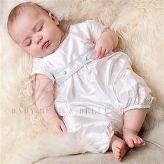 Infant Boy Silk Jumpsuit - Peter Christening/Baptism Collection - Fancy Gowns & Jumpsuits
