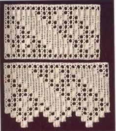 Resultado de imagem para barras em croche de canto par toalhas de mesa com graficos