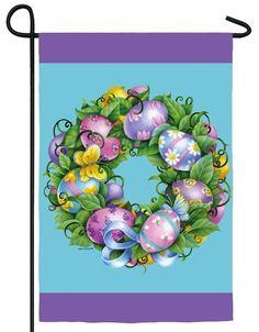 IAmEricas Flags - Easter Wreath Garden Flag, $14.00 (http://www.iamericasflags.com/products/easter-wreath-garden-flag.html)