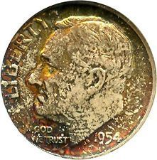 1954 Roosevelt DimeAsking Price: $25,000.00 Photo credit: eBay  via @AOL_Lifestyle Read more: http://www.aol.com/article/2016/08/11/these-rare-1-cent-coins-just-sold-for-a-pretty-penny/21449782/?a_dgi=aolshare_pinterest#fullscreen