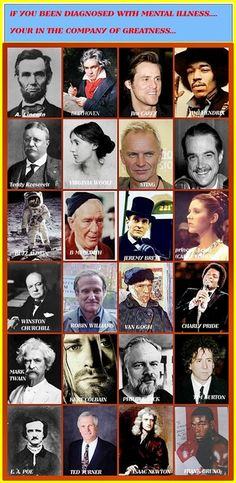 famous people who lived with mental illness