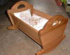 Doll Cradle by TedsWoodworkingShop on Etsy (Diy Baby Cradle) Baby Furniture, Doll Furniture, Diy Dolls Cradle, Baby Doll Crib, Wood Cradle, Doll Beds, Wooden Dolls, Wooden Crafts, Wood Toys