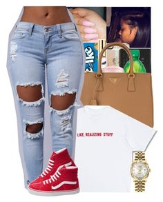"""❤️"" by theylovinniaaa ❤ liked on Polyvore featuring Prada, Vans and Rolex"