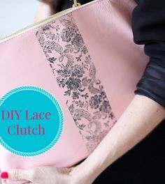 """Video DIY: Learn to make this gorgeous lace print clutch using Anna Griffin stamps and ink pads in a few easy steps in this how-to we created in partnership with @leaftv! We love personalized accessories and this one will have everyone asking """"Where'd you get that great bag?"""""""