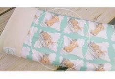 Baby Blanket Funny Bunny - 100% ORGANIC COTTON