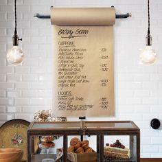Paper Roll Menu Holder   Retail Display