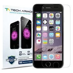 iPhone 6 Screen Protector, Tech Armor Apple iPhone 6 (4.7 inch ONLY) High Defintion (HD) Clear Screen Protectors -- Maximum Clarity and Touchscreen Accuracy [3Pack] Lifetime Warranty Tech Armor http://www.amazon.com/dp/B00EL93W1U/ref=cm_sw_r_pi_dp_kMcOub04DQ04B