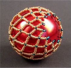 Netted Christmas BallFree Diy Jewelry Projects | Learn how to make jewelry - beads.us