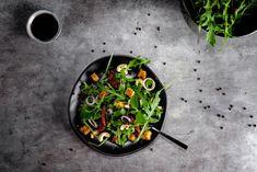 Linsen-Rucola-Salat, Food-Blog, vegan, glutenfrei, Foodfotografie, Foodstyling, Rezept, Stuttgart