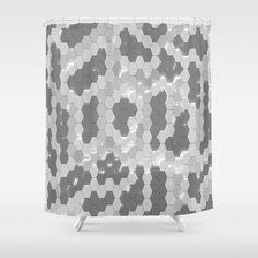 Grey #snakeskin design #shower #curtain