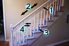 Re-paint stair railing