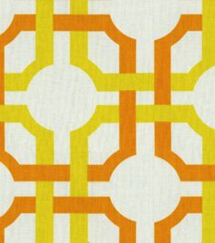 Home Decor Print Fabric-Waverly Groovy Grille Citrus