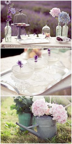 Lavender ideas for outdoor wedding this would be really easy and cost effective to do, very english country garden